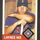 2002 Topps Heritage Laynce Nix Card # 425