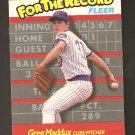 1989 Fleer Greg Maddux For The Record Card NM/MINT#5