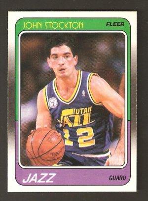 88 / 89 Fleer John Stockton Rookie Card #115 MINT