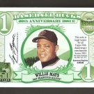 2001 Topps Archives Willie Mays Bucks Card #TB1