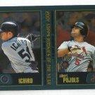 2001 Topps Traded Chrome Ichiro Pujols T99