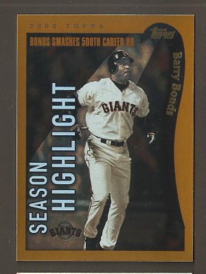 2002 Topps Barry Bonds Highlight TWO ( 2 ) Cards #332 336 Solid NM/MINT Plus