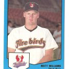1989 ProCards Matt Williams Phoenix Firebirds Card #1485