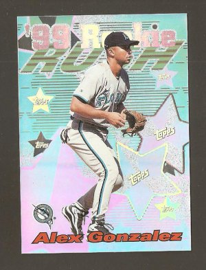 1999 Topps Alex Gonzalez All Matrix Refractor 99 Rookie #AM20