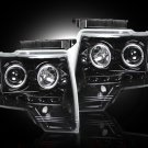 Part # 264190BK - SMOKED Projector Headlights Ford F150 & Raptor 09-13 w LED Halos & DRLs