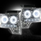 Part # 264190CLCC - CLEAR Projector Headlights Ford F150 & Raptor 09-13 CCFL Technology