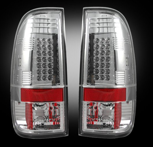 Part # 264176CL - CLEAR LED Tail Lights Ford Superduty 2008-2012