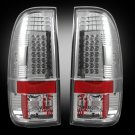 Part # 264172CL - CLEAR LED Tail Lights 99-07 Ford Superduty & 97-03 F150
