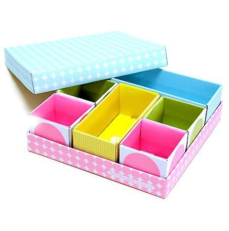 6 cell diy stationery makeup cosmetic desk drawer - Desk organizer box ...