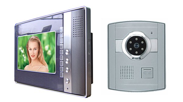 Colour video door phone, night vision, door open function