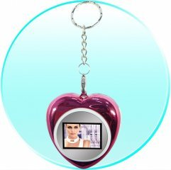 Heart-Shaped Mini Digital Photo Display Keyring