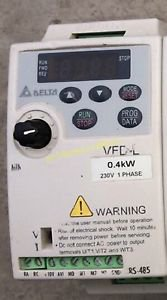 Delta inverter VFD004L21A 0.4KW 220V good in condition for industry use