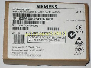 NEW SIEMENS Inverter AAOP control panel 6SE6400-0AP00-0AB0 for industry use