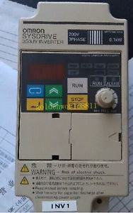 OMRON inverter 3G3JV-A2001 0.1KW 220V good in condition for industry use