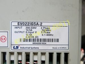 LS(LG) Inverter SV022iG5A-2 220V 2.2KW good in condition for industry use