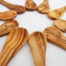 Olive Wood small coffee sugar spoon set, Set of 10 sugar salt coffee spoons 14cm