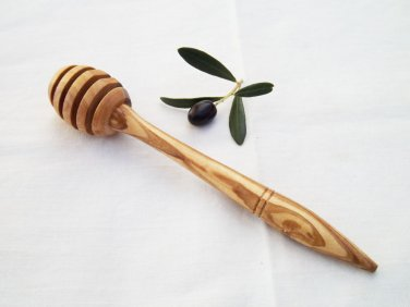 Handmade Olive Wood Honey Dipper 5 inches / wooden Honey Spoon Stick / Mom Gift