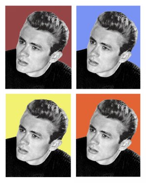 "James Dean  POP ART  1-11""X 14""  Photographic Images"