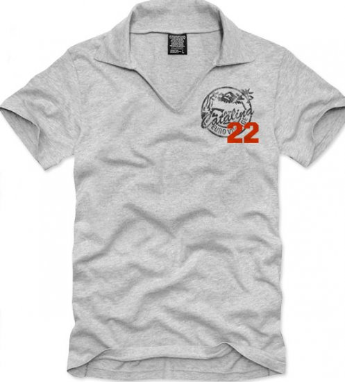 V-neck short sleeve men's t-shirt - Catalina 22