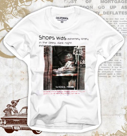 """Shoes was"" Hollywood Vintage Style Men's T-shirt"