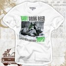 """Baby Drink Beer"" Hollywood Vintage Style Men's T-shirt"