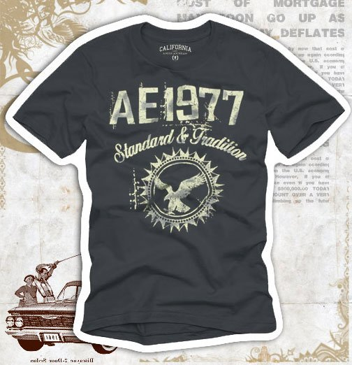 """AE 1977"" Hollywood Vintage Style Men's T-shirt"