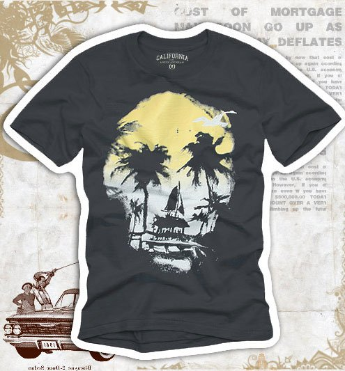 """California & Fitch"" Hollywood Vintage Style Men's T-shirt"