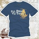 """Drink to Think"" Hollywood Vintage Style Men's T-shirt"