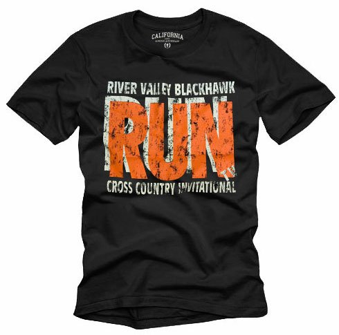 """RUN"" Hollywood Vintage Style Men's T-shirt"