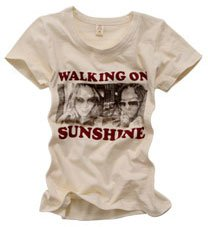 """Walking on sunshine"" New York Style Women's T-shirt"