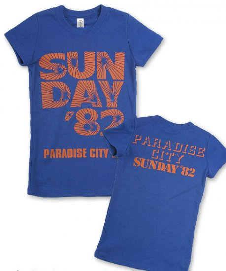 """Sunday 82"" Hollywood Vintage Style Women's T-shirt"
