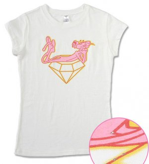 """""""Pink Panther"""" Hollywood Vintage Style Women's T-shirt"""