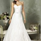 Mermaid Sweetheart Chapel Train Satin Lace Bridal Dresses