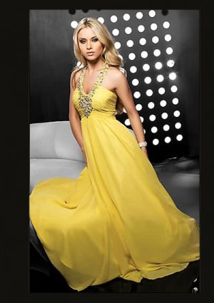 Fantastic A-Line Floor-Length Chiffon Charmeuse Cheap Evening Dresses
