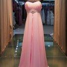 Pink strapless waist elegant evening dresses