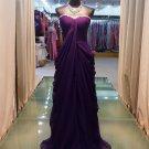 2012 new grape color strapless elegant evening dresses