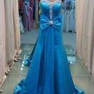 Enchanting Bra blue bow trailing a elegant evening dresses