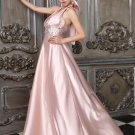 Elegant hanging long neck pink halter elegant evening dresses