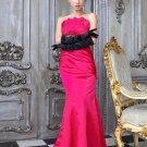 New charming Tube rose red mermaid elegant evening dresses
