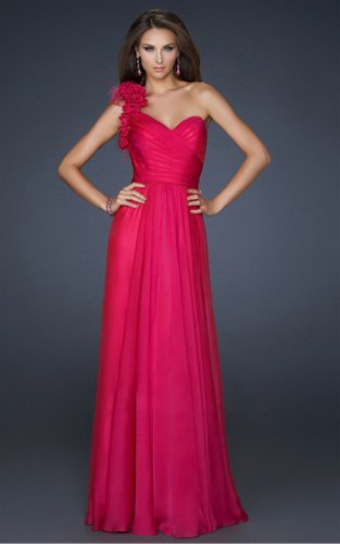 A-line One Shoulder Evening Dresses