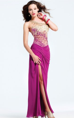 Fashion Floor-length One Shoulder Evening Dresses