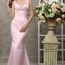 Pink Sheath Floor-length Halter Evening Dresses