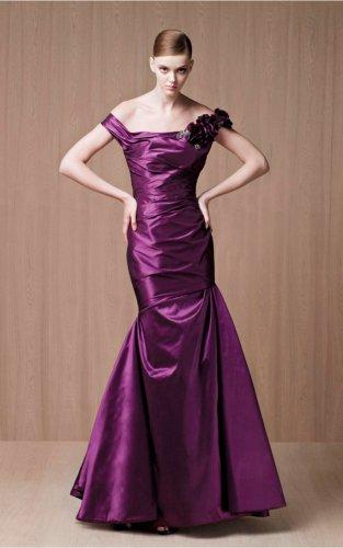 Purple Mermaid Floor-length Evening Dresses