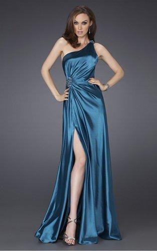 Sheath Floor-length One Shoulder Evening Dresses