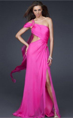 A-line Floor-length One Shoulder Dresses