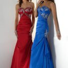 Fascinating Mermaid Sweetheart Charmeuse Evening Dresses 2012