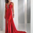 Fascinating Mermaid V-neck Charmeuse Evening Dresses 2012