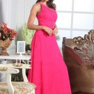 A-Line One-Shoulder Floor-Length Chiffon Charmeuse Evening Dresses 2012