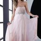 Strapless dress with empire waist.