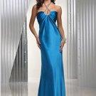 Charming Sheath Halter Floor-Length Charmeuse Long Evening Dresses